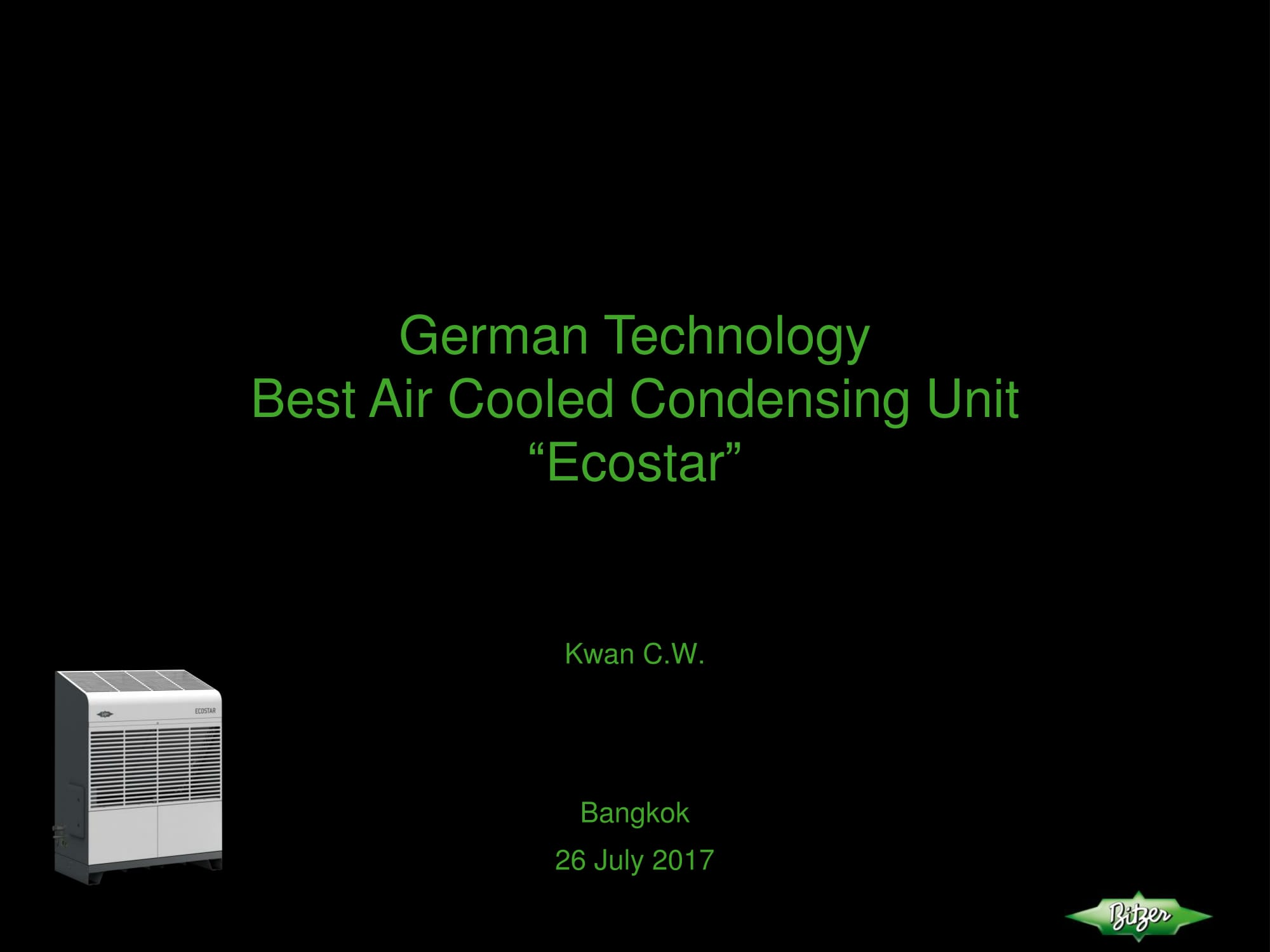 BEST Condensing Unit_by German technology_2017-01